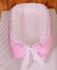 Cuibușor pentru bebeluși cu dantelă (disponibil în mai multe culori)