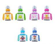 Biberon Baby Care cu mâner 125ml - în culori variate