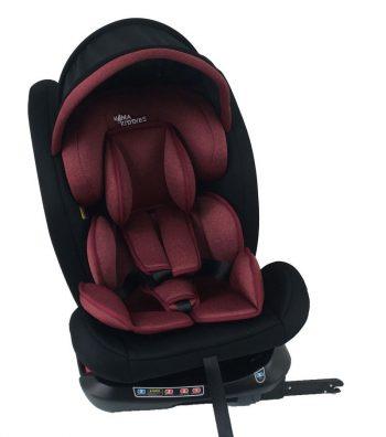 Scaun auto sigur ISOFIX rotativ în 360° Mama Kiddies Rotary Protect GT  (0-36 kg) roșu cu copertină cadou