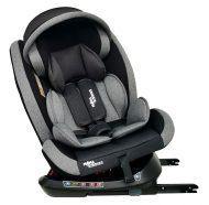 Scaun auto sigur ISOFIX rotativ în 360° Mama Kiddies Rotary Protect GT  (0-36 kg) gri cu copertină cadou