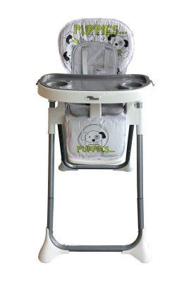 Mama Kiddies ProComfort NewLine scaun multifuncțional pentru hrănire, gri cu model de cățel  + Cadou