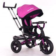Triciletă Mama Kiddies Riker Pinky Full Extra  (scaun rotativ 360°)