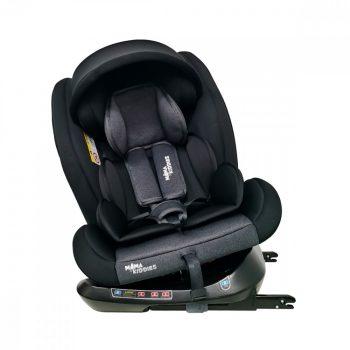 Scaun auto sigur ISOFIX rotativ în 360° Mama Kiddies Rotary Protect GT  (0-36 kg) negru cu copertină cadou