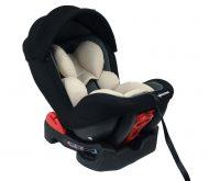 Scaun auto de siguranță Mama Kiddies Baby Armand (0-18 kg) culoare bej-gri-negru cu copertină cadou