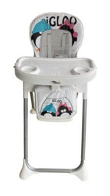 Mama Kiddies ProComfort NewLine scaun multifuncțional pentru hrănire, alb cu model de pinguin  + Cadou