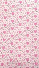 Mama Kiddies Baby Bear lenjerie de pat 2 piese, pentru grădiniță, roz cu model de inimioare