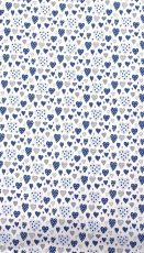 Mama Kiddies Baby Bear lenjerie de pat 2 piese, pentru grădiniță, albastru deschis cu model de inimioare