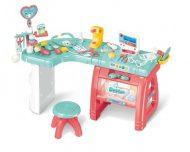 Mama Kiddies Masă medicală cu scaun și multe altele, set de 27 piese, culoare roz-albastru