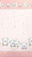 Mama Kiddies Baby Bear lenjerie de pat 2 piese, pentru grădiniță, roz cu model de ursuleț