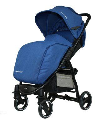 Cărucior sport Mama Kiddies Aqua în culoare albastru cu sac de picioare și husă de ploaie cadou