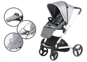 Mama Kiddies ISmart cărucior sport cu accesorii, culoare gri+ sac de picioare cadou