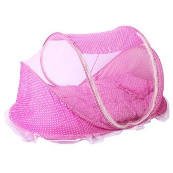 Pătuț voiaj Mama Kiddies în culoare roz