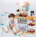Mama Kiddies KitchenStar Set bucătărie copii 43 piese, culoare portocaliu