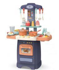 Mama Kiddies Effluent Kitchen Set bucătărie copii 29 piese, culoare albastru