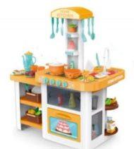 Set bucătărie copii Mama Kiddies HomeKitchen de 55 piese, în culoare portocaliu