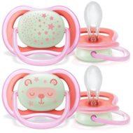 Philips Avent SCF376/22 ultra air suzetă de noapte - pentru fetițe 6-18 luni   2buc