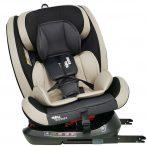 Scaun auto sigur ISOFIX rotativ în 360° Mama Kiddies Rotary Protect GT (0-36 kg) bej cu copertină cadou