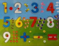 Puzzle de lemn de dezvoltare cu numere