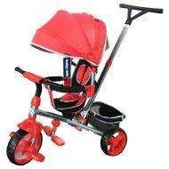 Baby Mix Tour Trike tricicletă cu mâner de împingere și suport pentru picioare în culoare roșu (scaun rotativ în 360°)