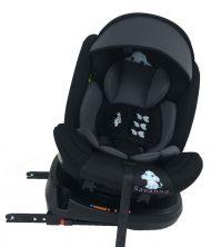 Scaun auto de siguranță cu ISOFIX, rotativ în 360° Mama Kiddies Rolling Safari (0-36 kg) cu model Jumbo + cadouri